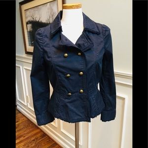Ann Taylor navy military style jacket